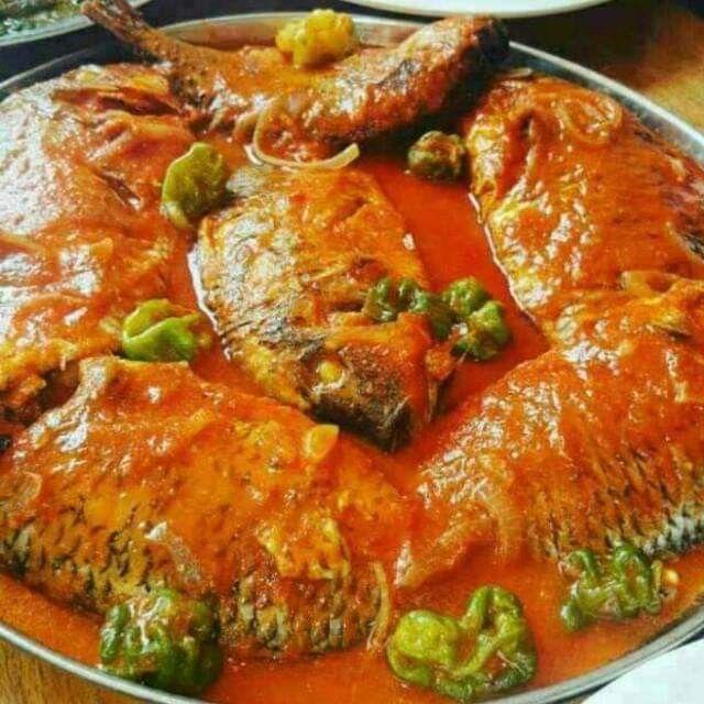 Recette sauce poisson Tilapia frais (AKPAVI MOU SOUNNOU) Pour 4 personnes